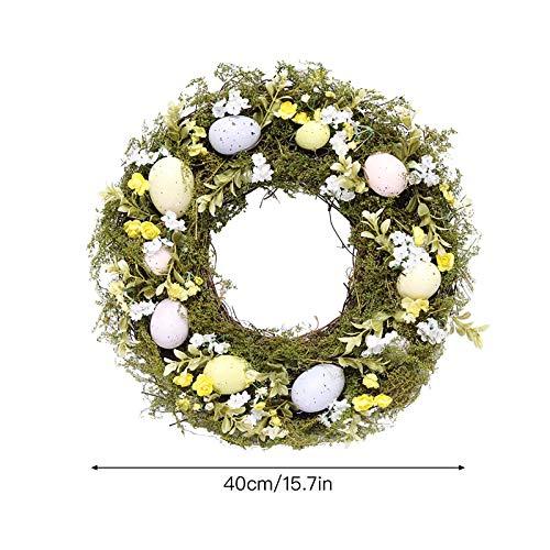 WanXingY Rattan Kranz DIY Hängender Ring Ring Handwerk Girlande Blume Ostern Modellierung für Ostern Party Fröhliche Ostern Dekoration Hängen (Farbe : A2)