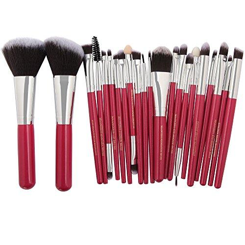 DDameinv 22 Ensembles de Pinceau de Maquillage Visage Pinceau de Maquillage pour Les Yeux Poudre de Poudre lâche Pinceau à Sourcils Brosse à lèvres capacité de réparation Brosse,11