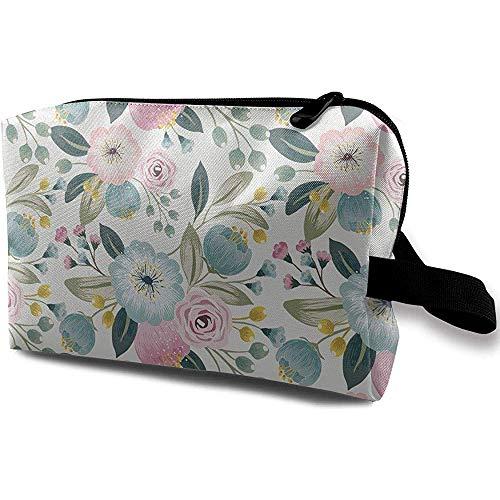 Voyage Cosmétique Sac Portable Sac À Main Poudre Fleur Trousse De Toilette Petit Maquillage Sacs Cas Organisateur