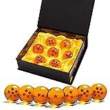 Bolas Dragon Ball, 7 Piezas Bolas de Dragón 1 a 7 Estrellas con Caja de Regalo, Regalo de Año Nuevo para Coleccionar o Regalar para Niños,Coleccionables para Dragonball Z Regalo - Diámetro 4,3CM
