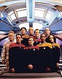 Star Trek Voyager Crew Group Shot Sci Fi TV Television Rare Vintage Postcard Print 11 by 14