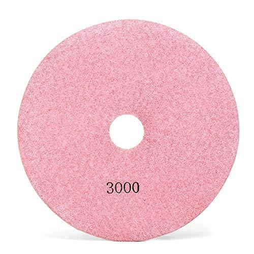 Pulido giro 7 pulgadas de piedra húmedo o seco for pulir diamante granito azulejo mármol Hormigón (Size : 3000#)
