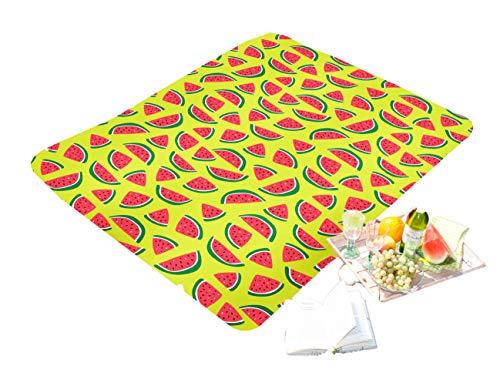 HomeEditition Tolle Picknickdecke in Normal- und XXL-Grösse, 130x170 - Wassermelone