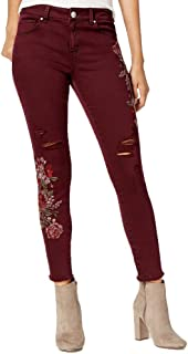 American Rag Juniors' Floral-Embroidered Skinny Jeans