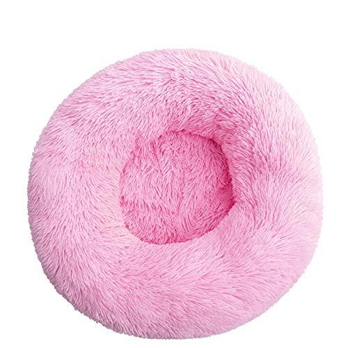Cama de perro cómoda para mascotas con forma de donut redonda para perros y gatos, ultra suave, lavable, cojín para perros y gatos, sofá cálido de invierno (color: J, tamaño: M 50 cm)