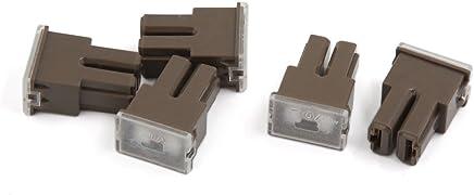 AMP: 80A Davitu 5Pcs 1038MM Gold Plated Glass AGU Fuse Fuses Pack Car Audio Amp Amplifier 10A 15A 20A 25A 30A 40A 50A 60A 70A 80A 100A Car Fuse