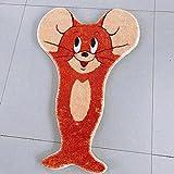LEMOKIKI Cartoon Cat Rug for Stairs, Tom and Jerry Rug, Cartoon Cat Mat Plush Rug, Home Decor Indoor Outdoor Kids Room (Jerry)