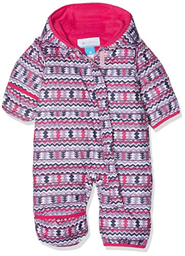 Columbia Sportswear Columbia Schneeanzug für Kinder, Snuggly Bunny Bunting, Polyester, - Rot, Rosa (Rosewater Zigzag, Cactus Pink) - 6/12 months