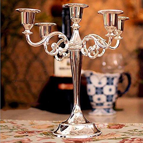 wpw-Candlestick Argento Europeo per la creatività Romantica candelabro Decorazioni