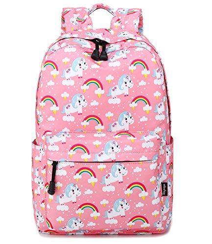 Abshoo Cute Lightweight Unicorn Backpack For Girls Elementary Kindergarten School Kids Bookbag (Pink)