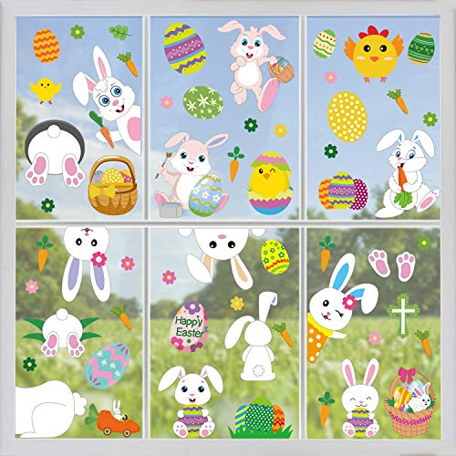 Easter Bunny Window Clings Decorations