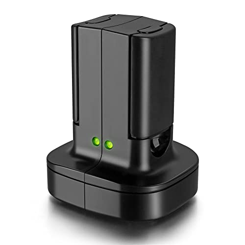 Xbox 360 2 Pack Rechargeable Battery Pack with Dual Charging Station Dock Charger Stand Base