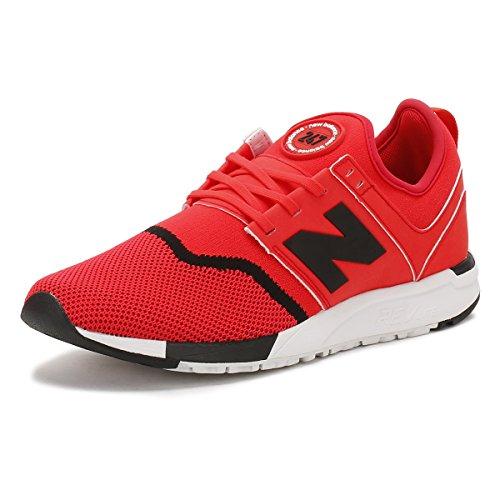 New Balance MRL 247 Sneaker Herren Schuhe Rot Schwarz - 12