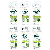 Tom's of Maine Long Lasting Deodorant,Refreshing Lemongrass, 2.25 Ounce, Pack of 6
