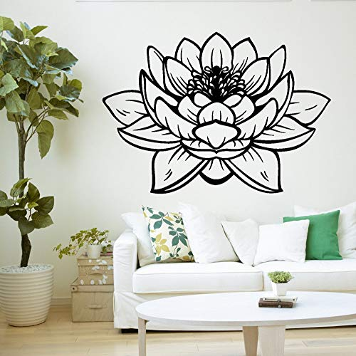 Yoga estudio meditación vinilo pared pegatina decoración loto papel pintado pared calcomanía mural 28 * 43 cm