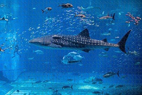 Amnogu UAE Dubai Aquarium Puzzle Für Erwachsene 1000 Stück Hölzernes Reisegeschenk-Souvenir 75x50cm