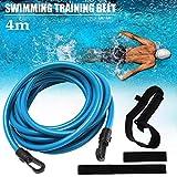 Frusde Cintura Resistenza per Nuoto, Regolabile Allenamento Cintura da Elastico Nuoto Piscina, Nuoto Corda Allenamento Elastica con Fitness, Allenamento, Sport per Adulti e Bambini