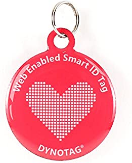 Dynotag Web Enabled Super Pet ID Smart Tag with DynoIQ & Lifetime Recovery Service. Play Series: Round
