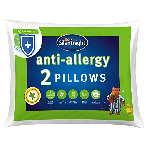 Silentnight Anti-Allergy Pillow - White, Pack of 2, Anti-Bacterial pillows