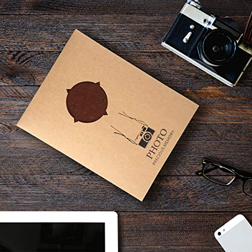 ThxMadam Fotoalbum zum Selbstgestalten,Scrapbook Album zum einkleben,Foto Buch,Vintage Gästebuch Geschenk für Weihnachten Hochzeit Jahrestag Valentinstag Geburtstag Muttertag - 7