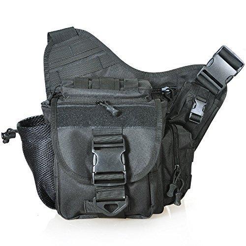 Piscifun Fishing Tackle Bags Single Shoulder Bags, Black