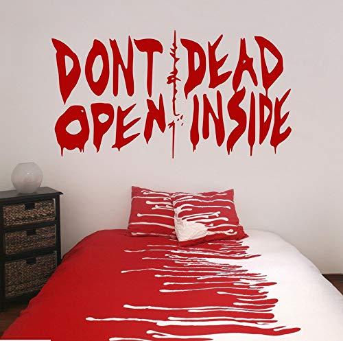 Wandtattoo Walking Dead Wand Aufkleber Öffnen Nicht Dead Innen Vinyl Kunst Malerei Wand Aufkleber Vinyl Decor Decals 53.5X100Cm