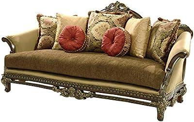 Amazon.com: polart diseños redondo sofá con lona tapizado ...