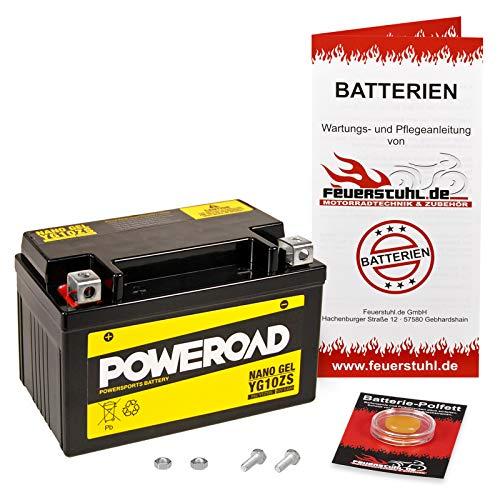 Gel-Batterie für Honda CBR 600 F, 2001-2007 (PC35) wartungsfrei, einbaufertig, startklar, inkl. 7,50€ Pfand