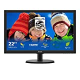 Philips Monitor 223V5LHSB2 Monitor LCD-TFT per PC Desktop 21,5' LED, Full HD, 1920 x 1080, 5 ms, HDMI, VGA, Attacco VESA, Nero