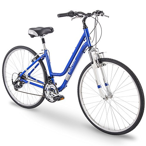 "700c Royce Union RMY Womens 21-Speed Hybrid Comfort Bike, 17"" Aluminum Frame, Pearl Blue"