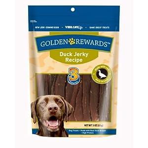 Golden Rewards Duck Jerky Recipe Dog Treats, 3 Oz – (Pack of 2)