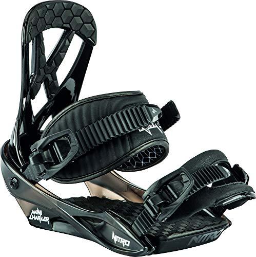 Nitro Snowboards Mini '20 All Mountain - Fijaciones de Snowboard para jóvenes (Talla S), Color Negro