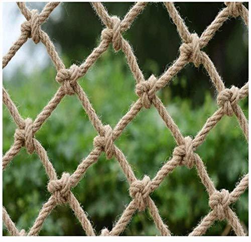 Kletternetz Für Kinder, Sicherheitsnetze Hanfseil Netz Frachtseil 10ft Breites Kletternetz Leiter LKW Anhänger Hochleistungsnetz Balkon Geländer Treppenschutz Zaun (Size:3x4M(10x13ft),Color:8mm/12cm)