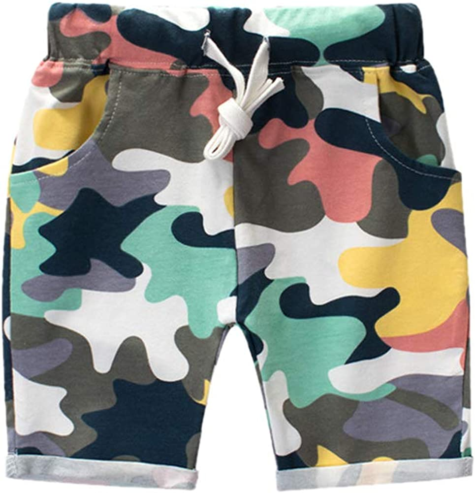 Hwafan Toddler Baby Boys New mail order Summer Knee Sho Japan's largest assortment Length Sport Camouflage