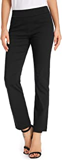 Women's Casual Bootcut Dress Pants Stretch Comfort Fit Pull on Work Trousers with Pockets