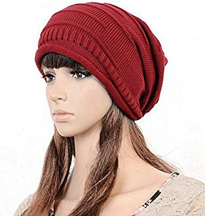 74e6e038 Designer Warm Skullies Women Men Unisex Winter Knitted Hat Crochet Plicate Baggy  Beanie Ski Hat Acrylic
