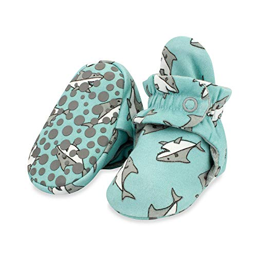 Product Image of the Zutano Organic Cotton Baby Booties with Gripper Soles, Soft Sole Stay-On Baby...