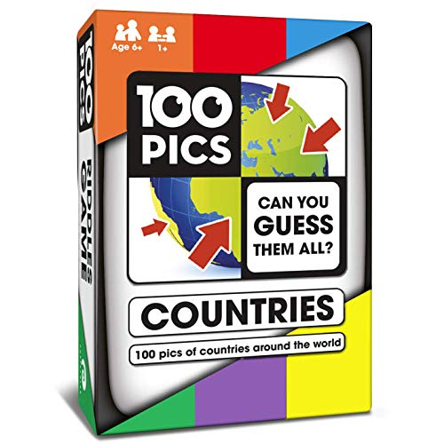 100 PICS Countries of The World Quiz Card Game  Educational Family Flash Card Travel Trivia Puzzle Games for Smart Kids and Adults Learning Geography
