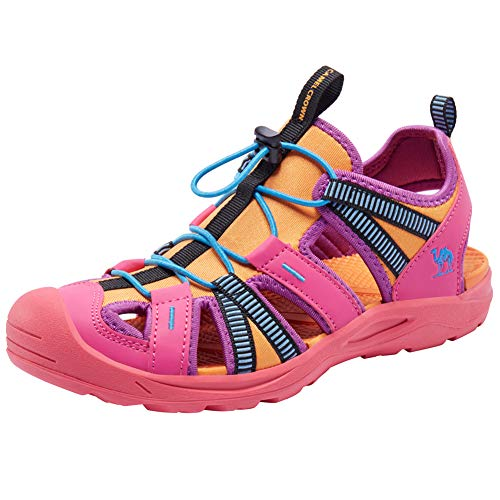 CAMEL CROWN Women's Waterproof Hiking Sandals Athletic Outdoor Sports Sandals for Beach Walking Water Trekking Rose Red