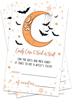 Starry Halloween Party Games - Guess How Many Candies (25 Pack and 1 Sign)