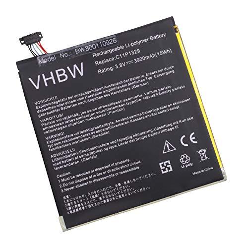 vhbw Li-Polymer Batterie 3900mAh (3.8V) pour Tablette, Netbook ASUS AST21, ME181C, ME581CL comme C11P1329, C11-P1329.