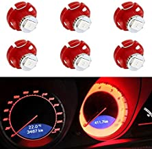 Partsam 6X Red T4.2 79674-S3N-941 Neo Wedge LED Bulb Instrument A/C Climate Heater Base Lights Replacement for Honda Odyssey
