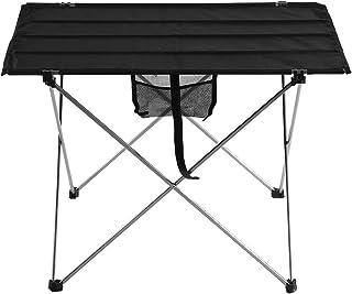 TOPINCN - Mesa de picnic plegable portátil para barbacoa, escritorio, plegable, compacto, plegable, para camping, picnic al aire libre