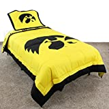College Covers Iowa Hawkeyes Reversible Comforter Set, Full