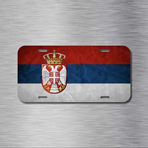 MNUT Nummernschild Serbien Flagge Belgrade Novi Sad Ni? 15,2 x 30,5 cm