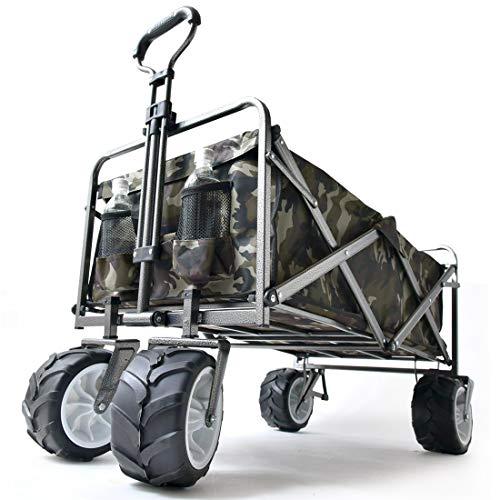 タンスのゲンキャリーワゴンワンタッチ折り畳み式幅広大型タイヤ*RaxusOFFROAD*89L同色カバー付き自立スタンド迷彩柄4560000012AM【61691】