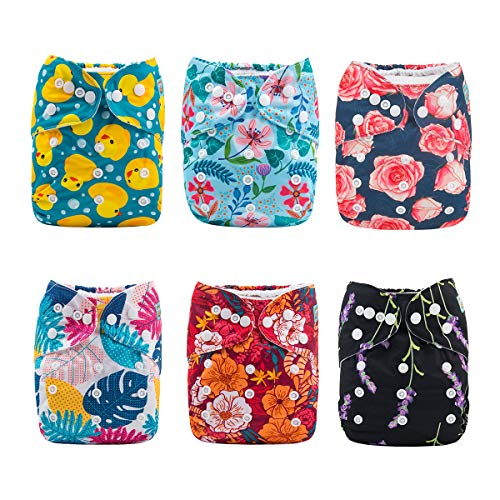 Alva Baby nouveau design couche lavable à poche réutilisable 6...