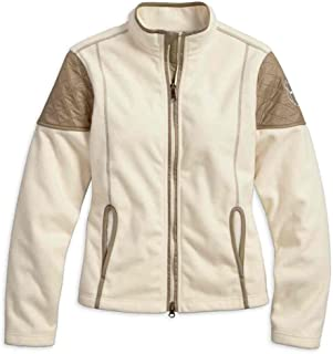 HARLEY-DAVIDSON Women's Sundown Windproof Fleece Jacket, Off White 97589-17VW