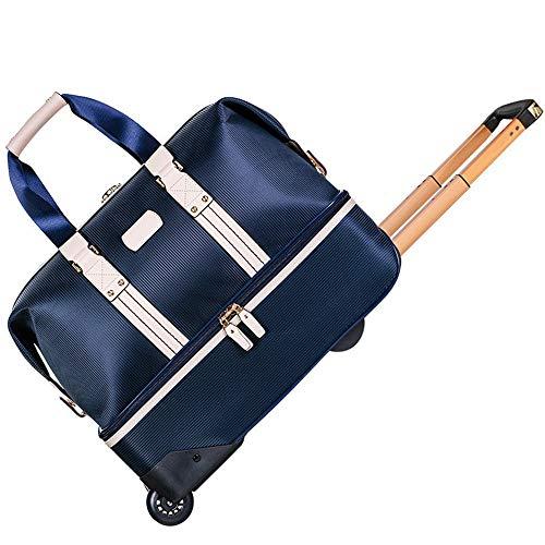 QinWenYan Gym Bag Golf Sports Duffel Handbag Trolley Suitcase Gym Bag Sports Travel Duffel Bag with Shoe Compartment for Sports and Travel (Color : Blue, Size : 50x27x45cm)