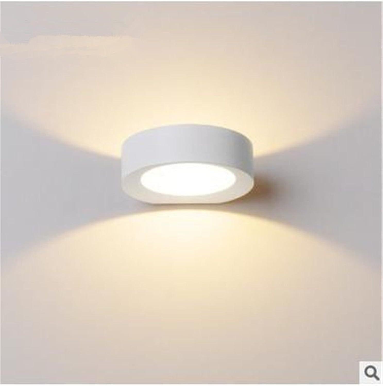 StiefelU LED Wandleuchte nach oben und unten Wandleuchten Hotel Wand lampe Nachttischlampe Schlafzimmer Wand lampe Wohnzimmer Treppenhaus passage Korridor zurück led - Aluminium, Warm-weies Licht